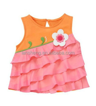 d640abcf7 Summer Pretty Baby Girl Party Shirt/blouse Fashion Design - Buy Baby ...