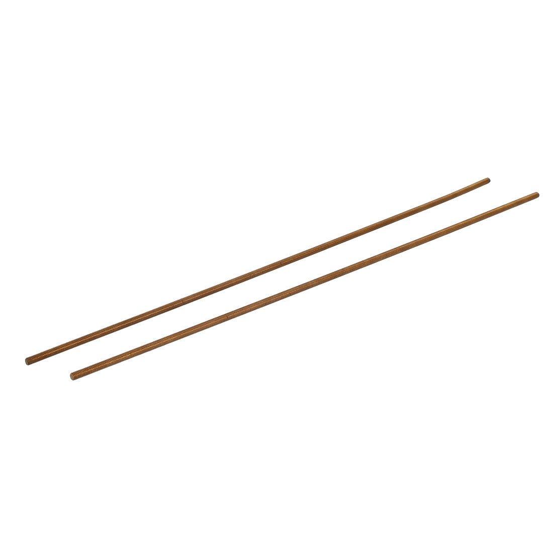 Uxcell a16040100ux0225 M3 x 250mm Male Threaded 0.5mm Pitch All Thread Brass Rod Bar