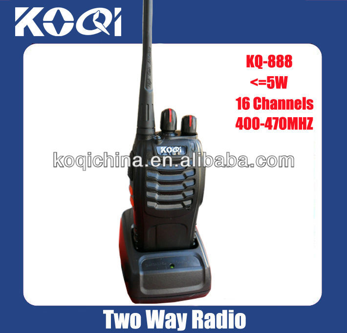 walkie-talkie for the police with headsets UHF radio transmitter