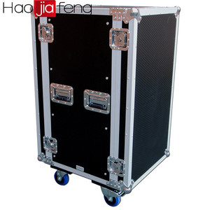 "HJF-FC 19"" Combo Flightcase 2U 10U Amp CD Player Mixer Hard DJ Carry Rack Case"