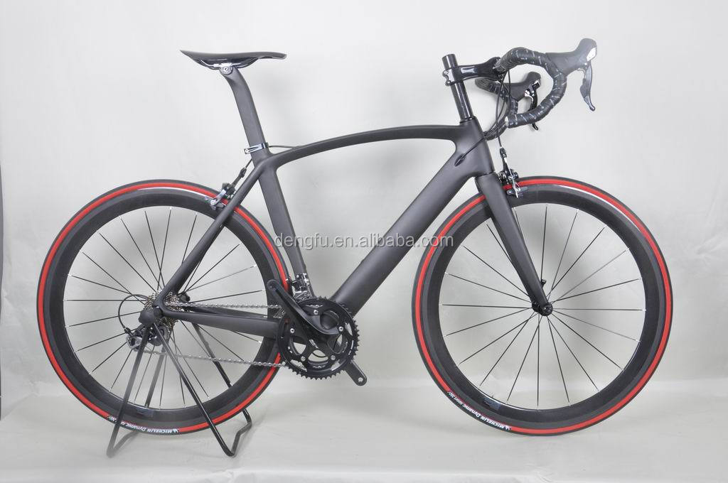 Dengfu fiets! Chinese goedkope carbon racefiets, full carbon fietsframe fm098