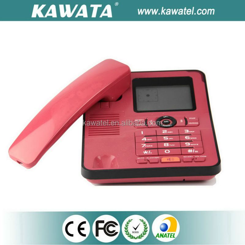 Top quality 2 line caller id box fixed office phone
