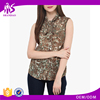 Brand quality chiffon material printed new fashion trade assurance women tank