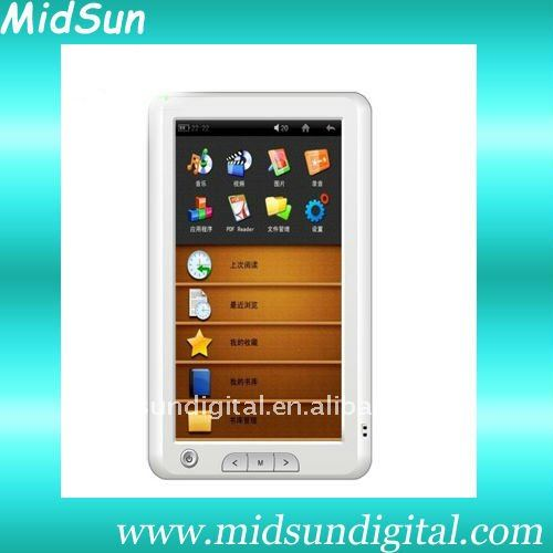 e-book 7' tft,wifi,3G,e-ink,fm,touch screen,notebook,ebook,TFT