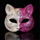 New plastic carving pattern fox cat face mask
