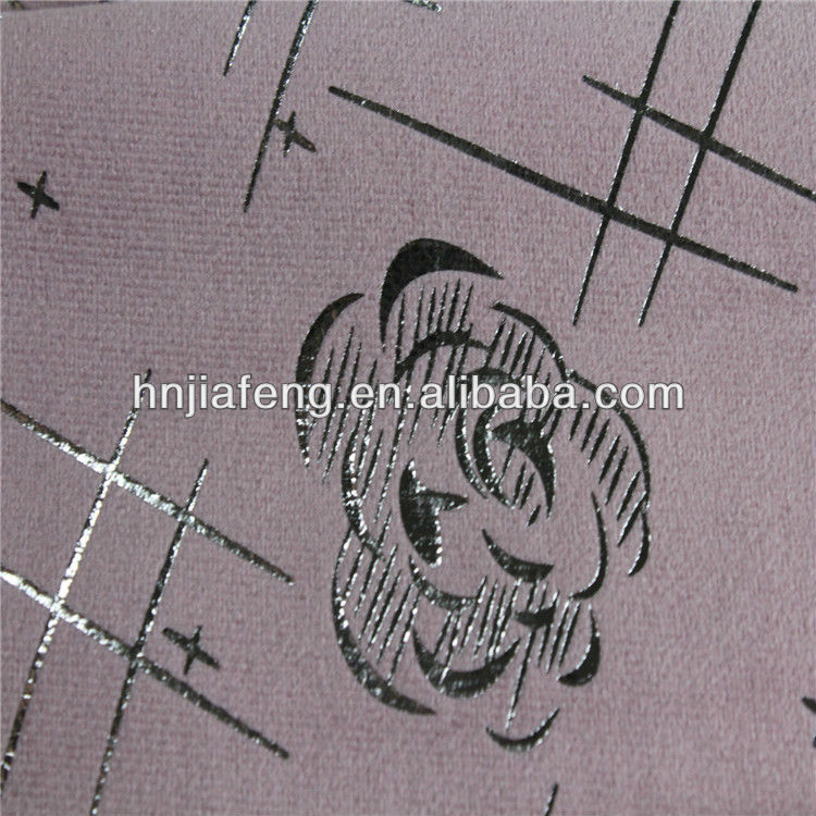 Super soft 100% polyester bronzing fabric for sofa,upholstery fabric,hometextile,wall paper fabric