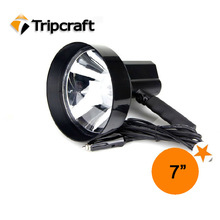 Black Wireless HID SEARCHLIGHT 55w HID Xenon Search Light with swich for marine,police and patrol car
