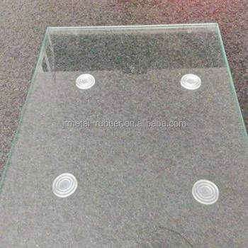 Glass Table Top Rubber Pads Clear Packaging Spacer Shelves Bumper
