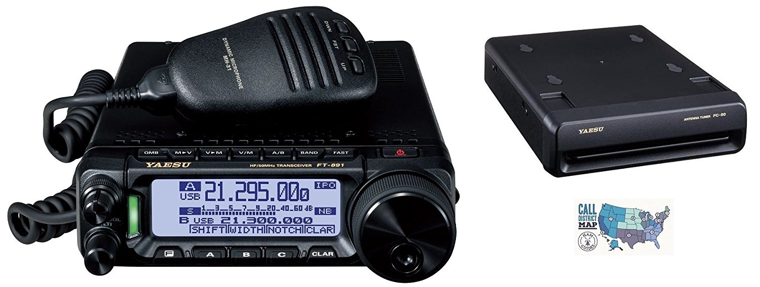 Get Quotations · Radio and Accessory Bundle - 3 Items - Includes Yaesu  FT-891 HF/6M
