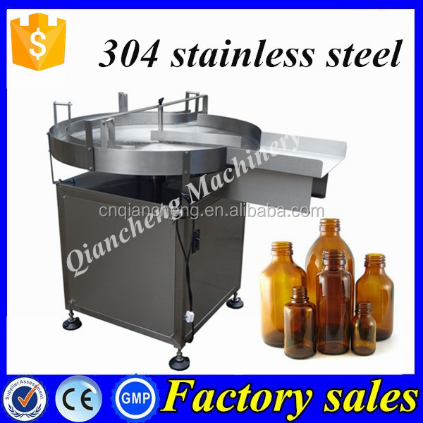 304 stainless steel bottle accumulation table,syrup feeding turntable
