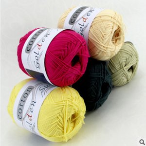 2017 Super soft and hot sale pure color organic cotton knitting yarn for baby wear