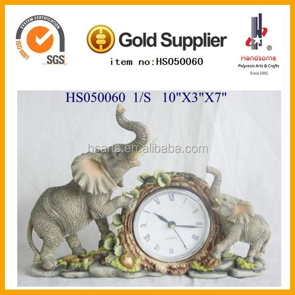 Polyresin home goods wall clocks horse design clock for home decoration