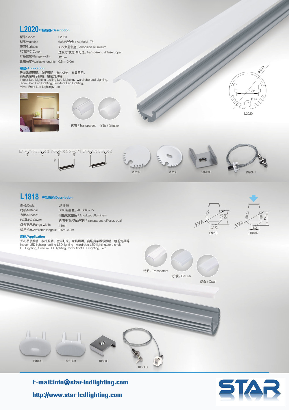 Design Solutions International Inc Lighting Led Aluminum Profile For