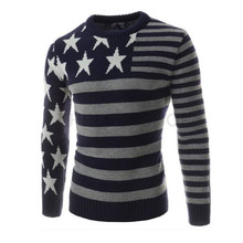 2015 New Sweaters Men Brand Clothes Five Star Stripe Resilient Men Sweaters Turtleneck Male Sweaters Pullover
