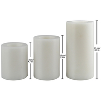 Artificial white Pillar Candle Tea Light Holder Set for home decor