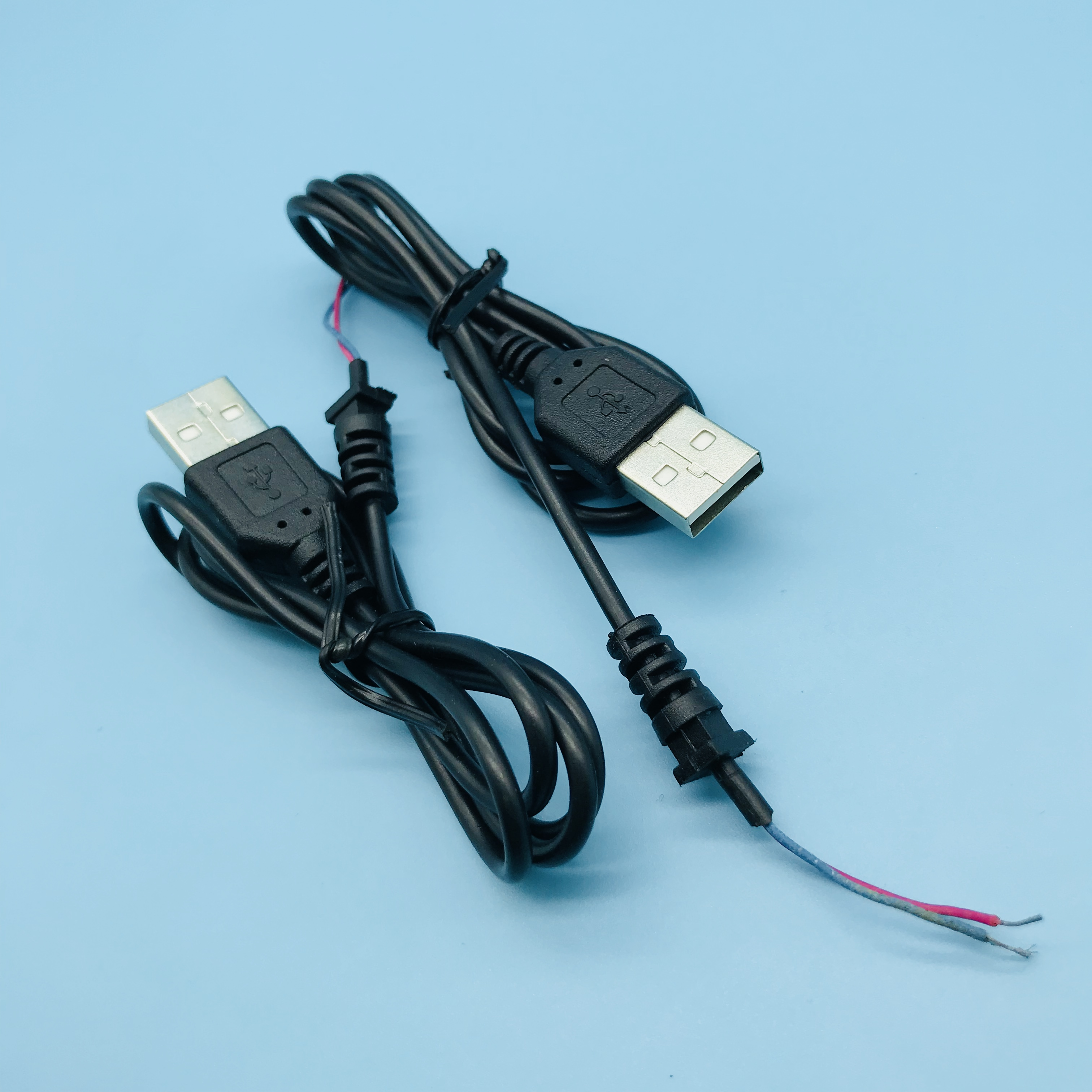 Braid Shield USB 2.0 Type A Male naar 4 Draden Open Kabel voor DIY OEM