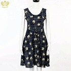 JS2779 new design wholesale waistband eyelet women casual dresses