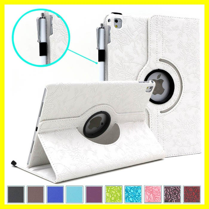 360 Degree Rotating Stand Case with Smart Cover Auto Sleep / Wake Feature for Apple iPad Pro 9.7