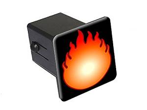 """Graphics and More Fire Fireball - 2"""" Tow Trailer Hitch Cover Plug Insert"""