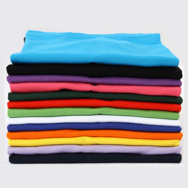 Custom model fashion soft cotton cloth blank t shirt with logo print