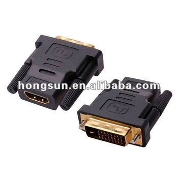Dvi-d Dual Link Male To Hdmi Female Adapter Hdtv 24+1 Pin