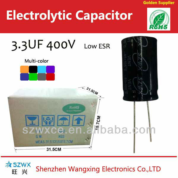 Micro digit tablet Capacitor 3.3uf 400v