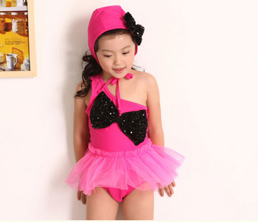 01bfb8c01d9e2 Get Quotations · For 2-8 Years Top Quality Lovely Skirt Bathing Suit Rose  Color 2015 Hot Summer