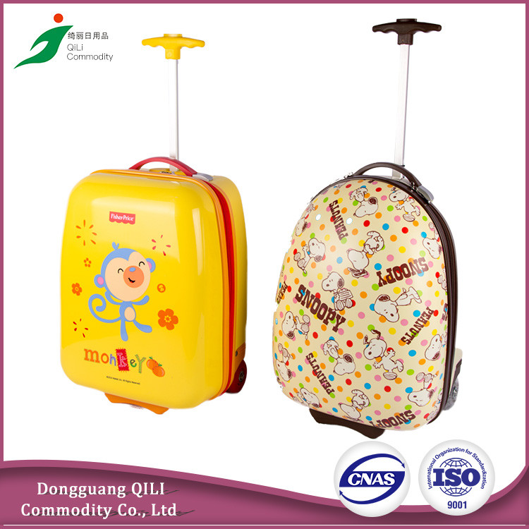 Cartoon character children travel trolley luggage bag kids luggage wholesale