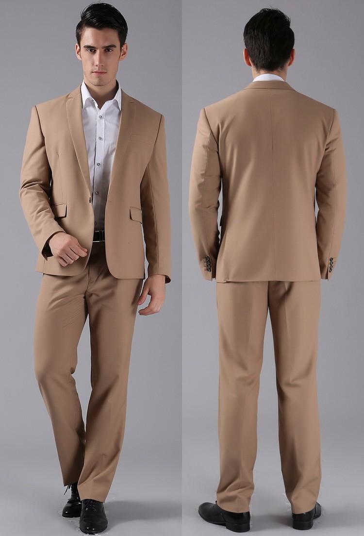 (Kurtki + Spodnie) 2016 Nowych Mężczyzna Garnitury Slim Fit Niestandardowe Garnitury Smokingi Marka Moda Bridegroon Biznes Suknia Ślubna Blazer H0285 77
