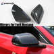 Car Carbon Fiber Side Door Rearview Stick On Mirror Caps For Ford Mustang 2014+