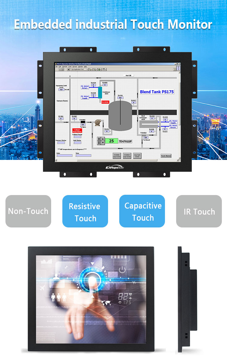 12 inch touch screen monitor capacitive touch monitor waterproof touch screen monitor