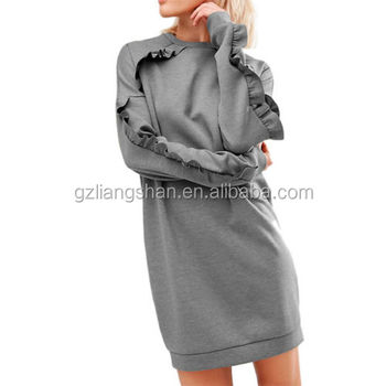 Wholesale Oem Womens Korean Style Fashion Loose Round Neck Casual