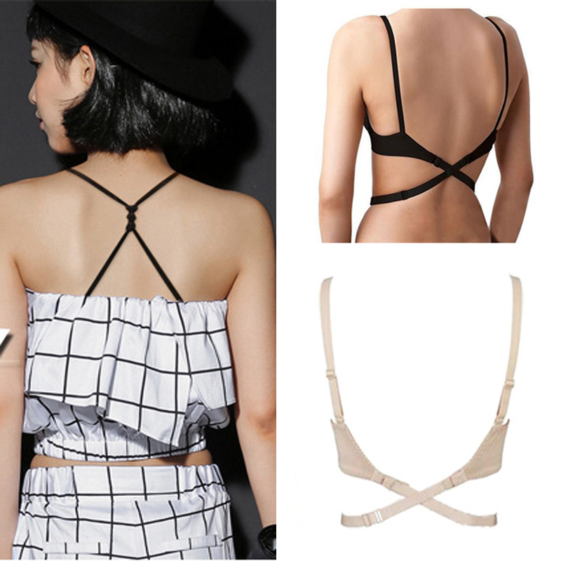 5ddf73036 3PCS Bra Extenders Straps Belt For Backless Dresses Cross Low Back Bra  Straps Elastic Adjustable Bra Extension Shoulder Straps