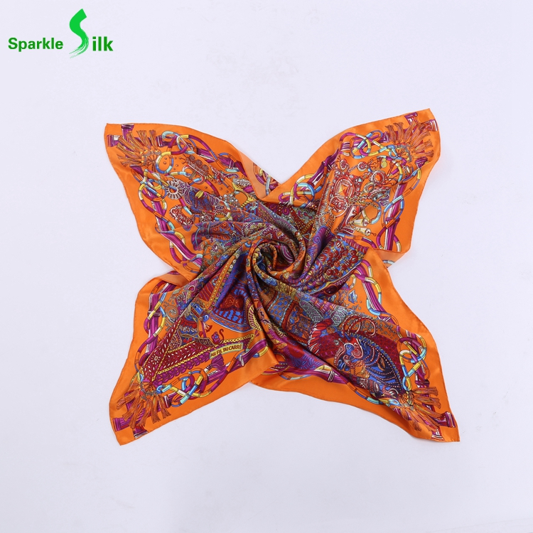 New Collection Personalized Comfortable Printed Silk Twill Scarf