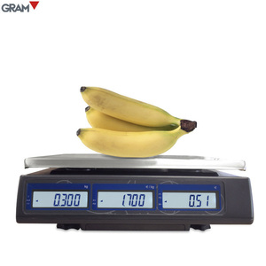RS232 trade approved scales 6kg 15kg 30kg price computing scale for shop and market