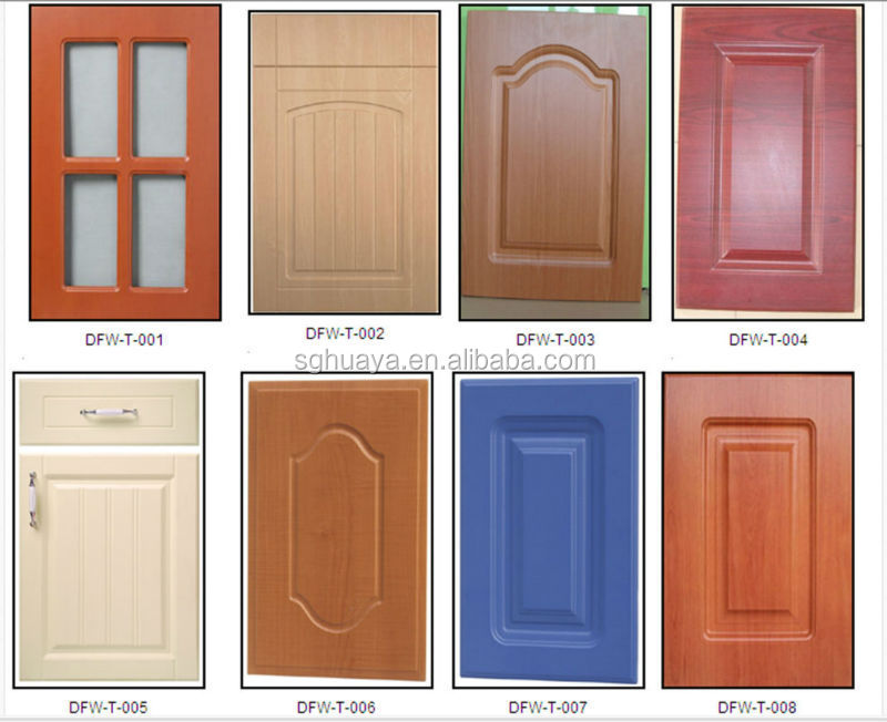 Pvc Cabinet Doors : Pvc thermofoil kitchen cabinet door wood grain color buy