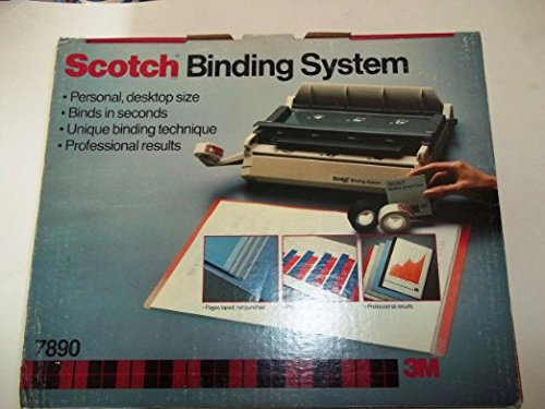 Scotch(TM), Binding System, 7890, Contains 1 C-78 Binding Machine, 25 Scotch System Covers, Rainbow Pack, 1 Roll Binding System Tape White, 1 Roll Binding System Tape Black by Scotch