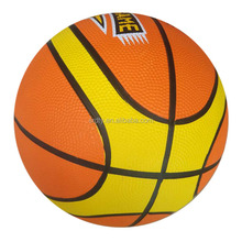 12 Panels custom printed rubber basketball with size 7