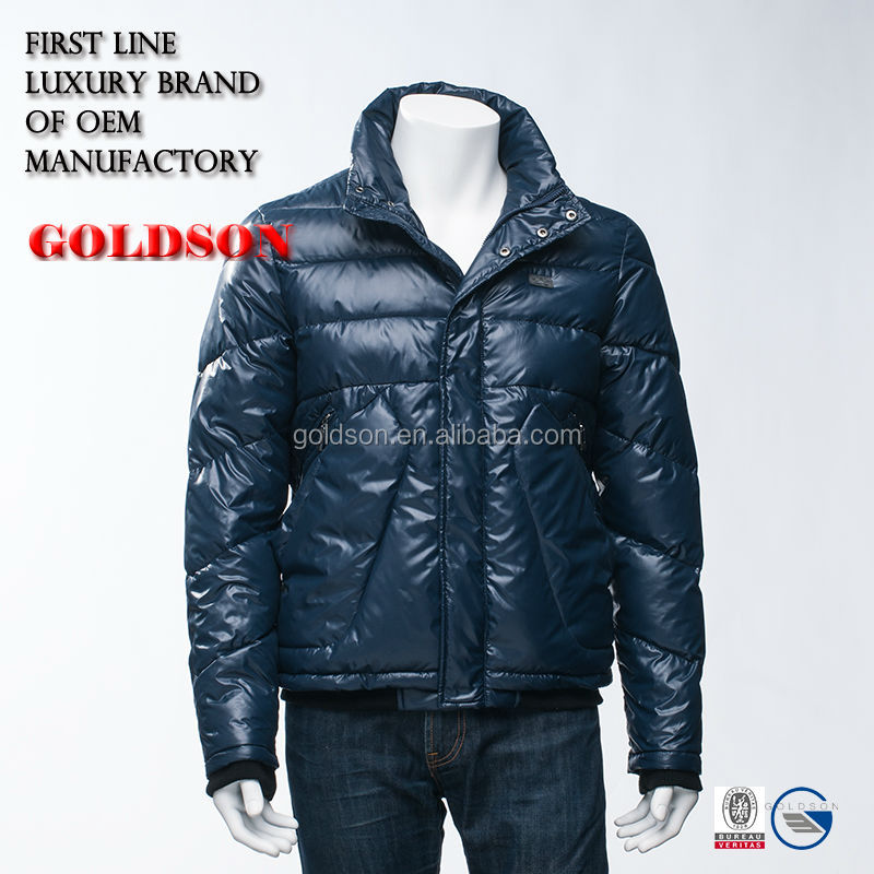 Latest and Fashionable Uncapped Short Men Winter Down Jacket/Coat with OEM Service in Zhejiang China