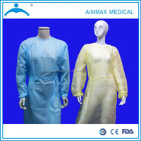 Disposable PP Non Woven 115x137 Waterproof Surgical Yellow Isolation Gown