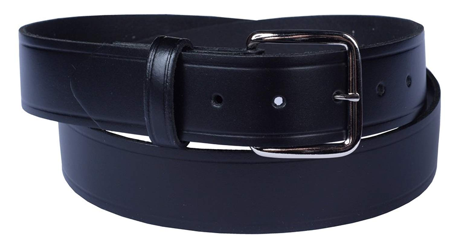 """Belt with easy to change buckle 100% Top Grain One Piece Leather,Uniform,1.25"""" wide, Made in USA"""