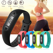 LCD Digital Wrist Watches Women Men Fashion Steps Calorie Counter Date Clock Pedometer Wristbands