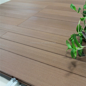 Outdoor Plastic Deck Floor Covering Plastic Patio Decking Composite