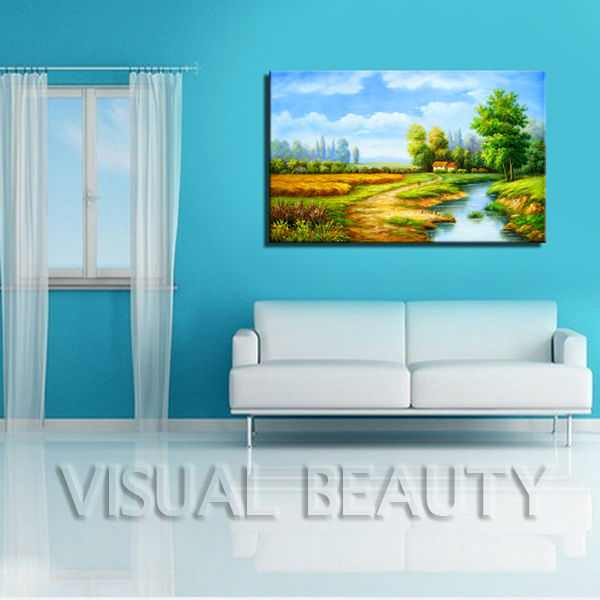 Painting For Office Handmade Village Natural Scenery Painting For Office Decor  Buy