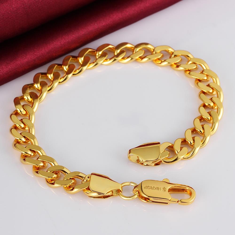 aliexpress new style 18k rose gold plated plating women men female male 8mm chain link bangle - Bracelet Design Ideas
