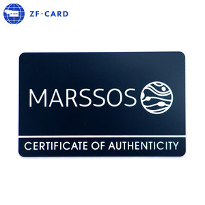 Attractive Customized Credit Card Size Full Color Printable PVC Card/Certificate Of Authenticity Card