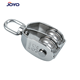 High Quality ss304 or ss316 rigging double sheave block stainless steel pulley