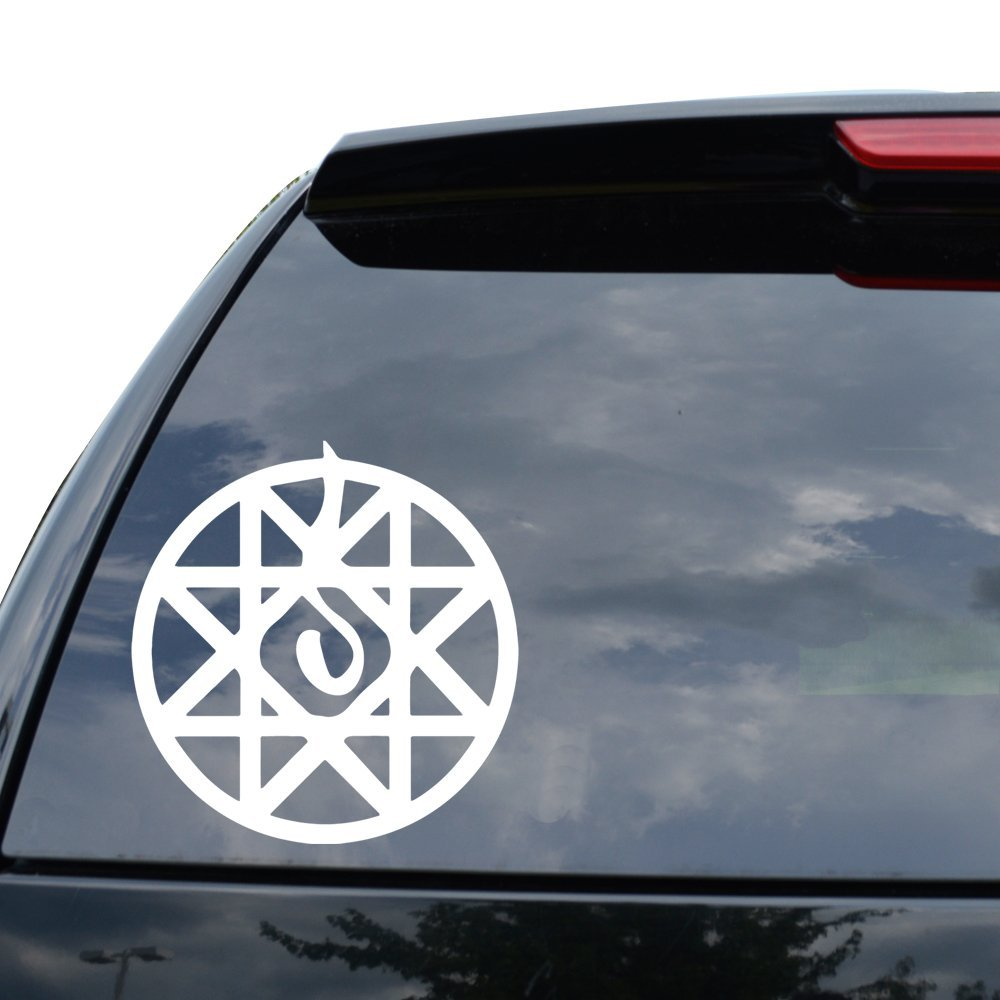 FULL METAL ALCHEMIST BLOOD SEAL ANIME Decal Sticker Car Truck Motorcycle Window Ipad Laptop Wall Decor - Size (05 inch / 13 cm Tall) - Color (Gloss RED)