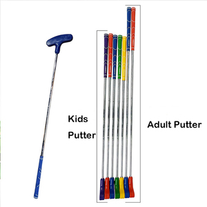 Hot sale assorted color rubber head Kids mini golf putter club