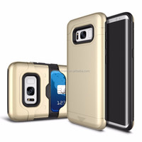 2017 new fashion Slider card holder phone case for Samsung Galaxy S8